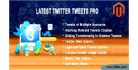 Twitter latest tweets extension magento pro