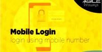 Using login mobile number