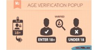 Verification age 2 magento popup