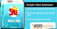 View onsale magento for extension