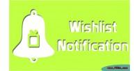 Wishlist magento notification
