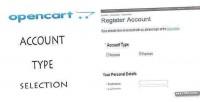 Add opencart account vqmod type