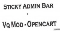Admin sticky bar opencart vqmod