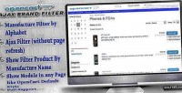 Ajax opencart brand filter
