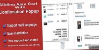 Ajax sliding cart popup confirmation with