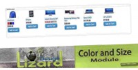 And color size opencart