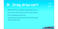 And drag drop module opencart cart