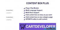 Box content opencart for plus