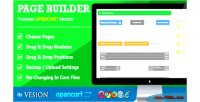 Builder page for opencart