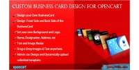 Business custom card opencart for design
