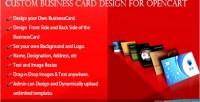Business custom card opencart for design