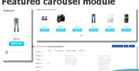 Carousel featured opencart for module