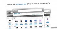 Carousels products opencart modules