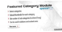 Categories featured opencart