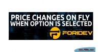 Change price options opencart on for fly