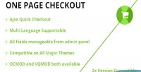 Checkout onepage quick checkout
