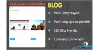 Clean wblog design responsive and
