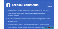Comments facebook opencart module