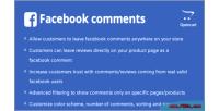 Comments facebook opencart module