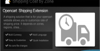 Cost shipping by zone