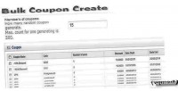 Coupon bulk opencart for create