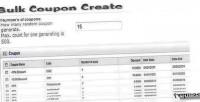 Coupon bulk opencart for create