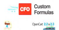 Custom cfo formulas