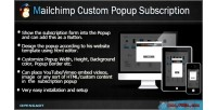Custom mailchimp popup opencart for subscription
