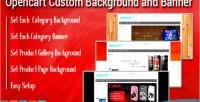 Custom opencart banner & background