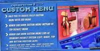 Custom opencart menu