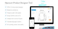 Custom opencart product designer