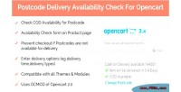 Delivery postcode availability opencart for check