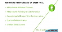 Discount additional based total order on