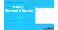 Discount manage special
