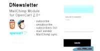 Dnewsletter mailchimp extensions compatible with opencart 0 2