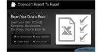 Export opencart to excel