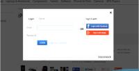 Facebook awesome google popup registration login