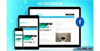 Facebook so module opencart responsive