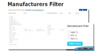 Filter manufacturers for opencart.