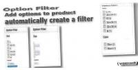 Filter option for opencart