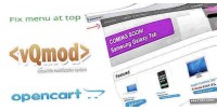 Opencart fix menu bar vqmod top to