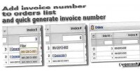 Invoice number to orders opencart for list invoice