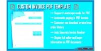 Invoice custom pdf