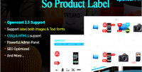 Label product advanced module product opencart label