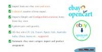 Listing ebay2opencart item import