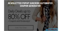 Mailchimp newsletter subscribe popup & coupon generator with s coupon birthday