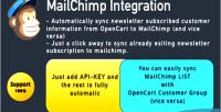 Mailchimp opencart extension