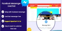 Messenger facebook livechat responsive opencart livechat module 2 3