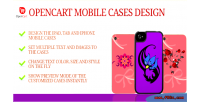 Mobile case design & opencart for personalized
