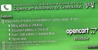 Mandatory mobile no in checkout address opencart
